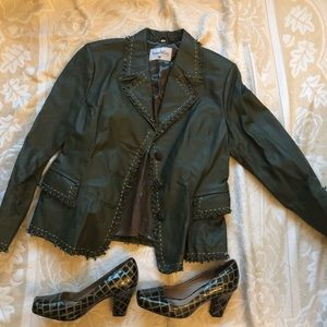 Pamela McCoy Collection's leather jacket. Size M